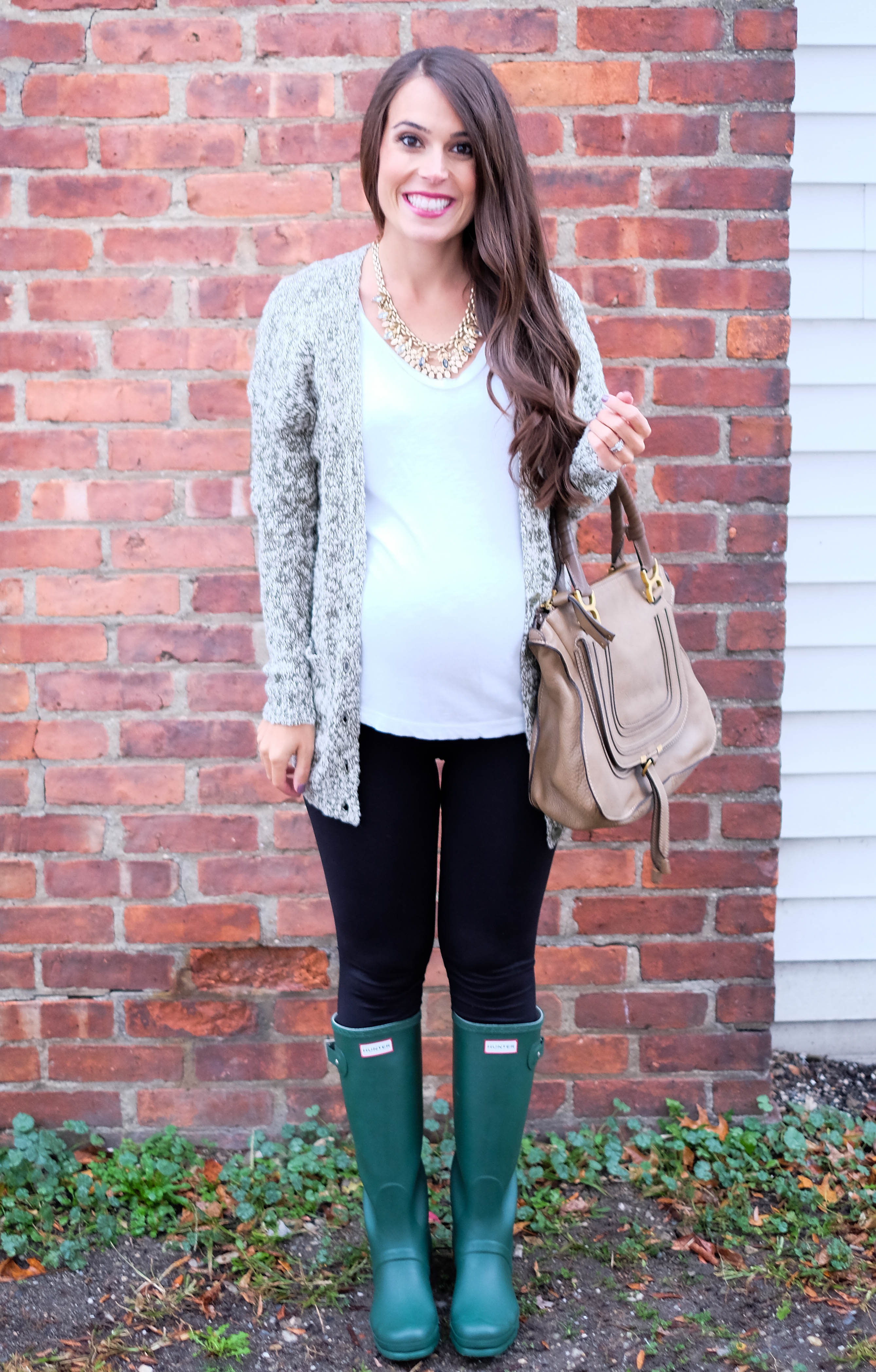 mrscasual green hunter boots outfit fall outfits fashion blog