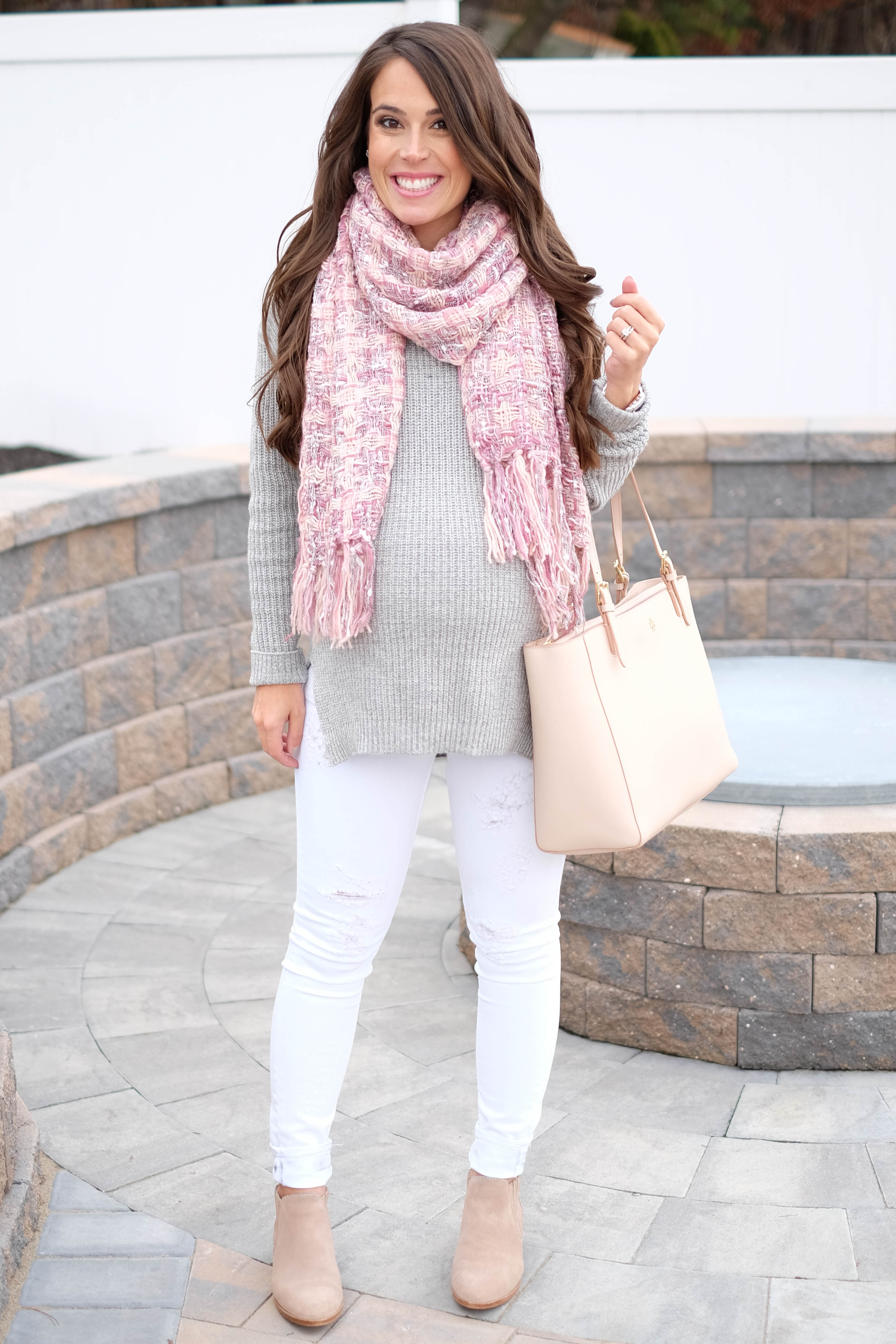 Pink Plaid Scarf Mrscasual