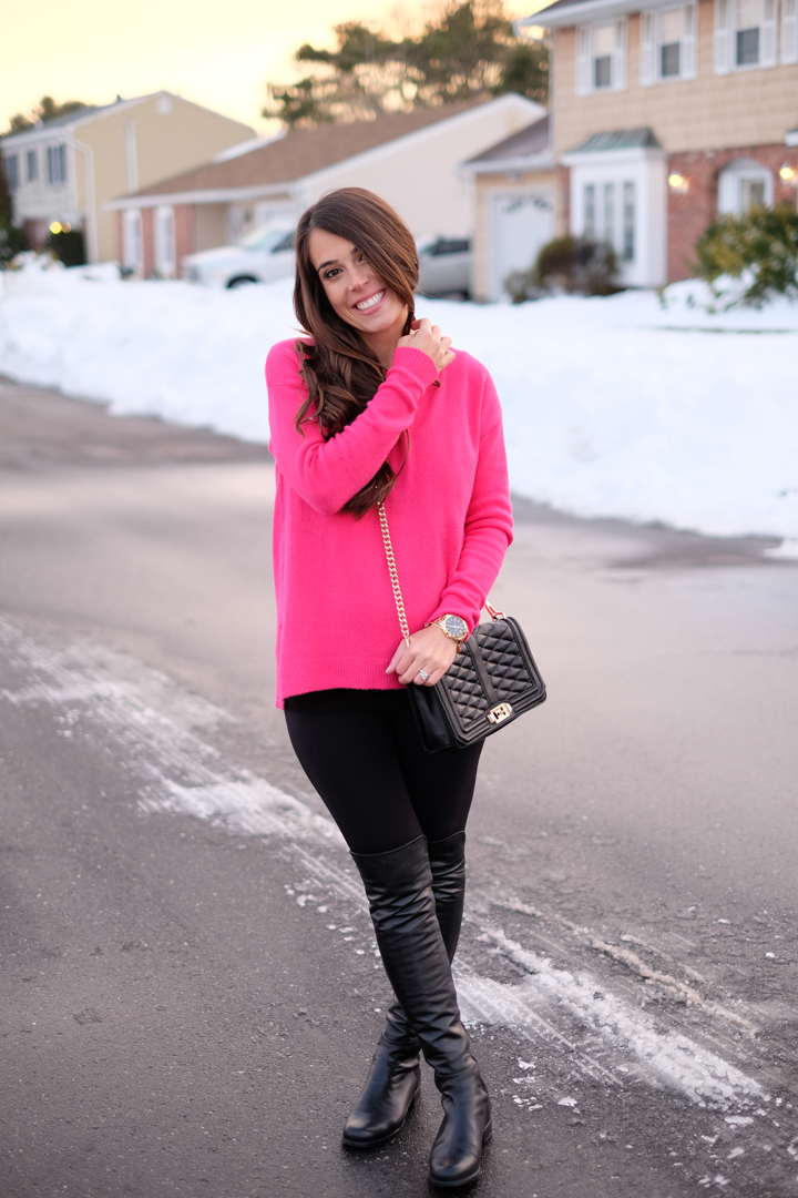 Hot Pink Sweater on Sale | MrsCasual