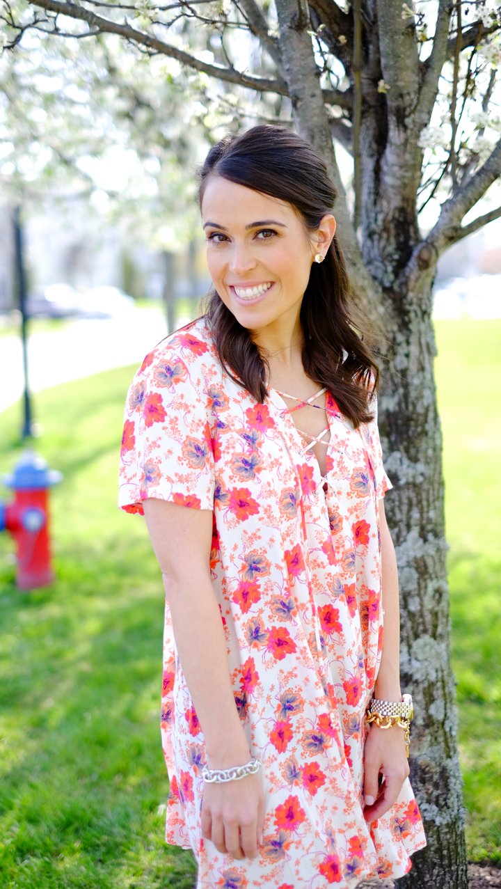 lace-up floral dress mrscasual spring dresses & outfits