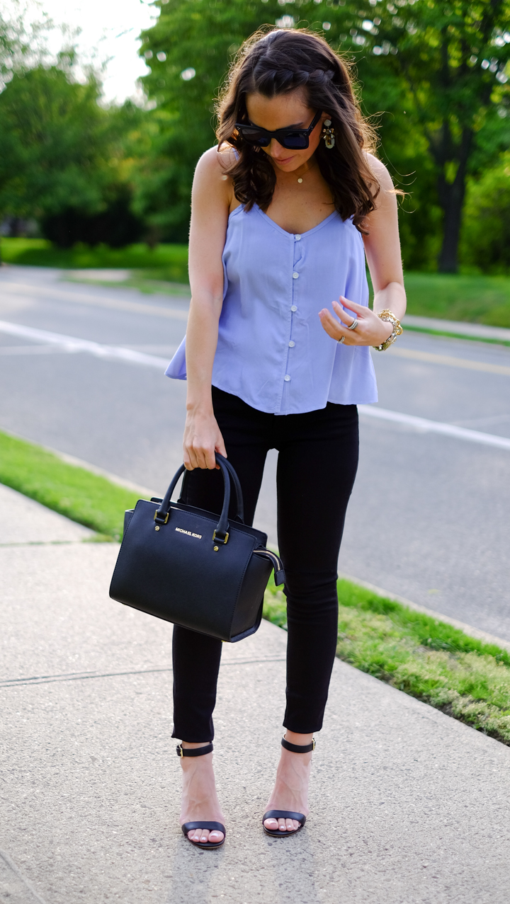 Going Out Outfit: Swing Tank + Jeans