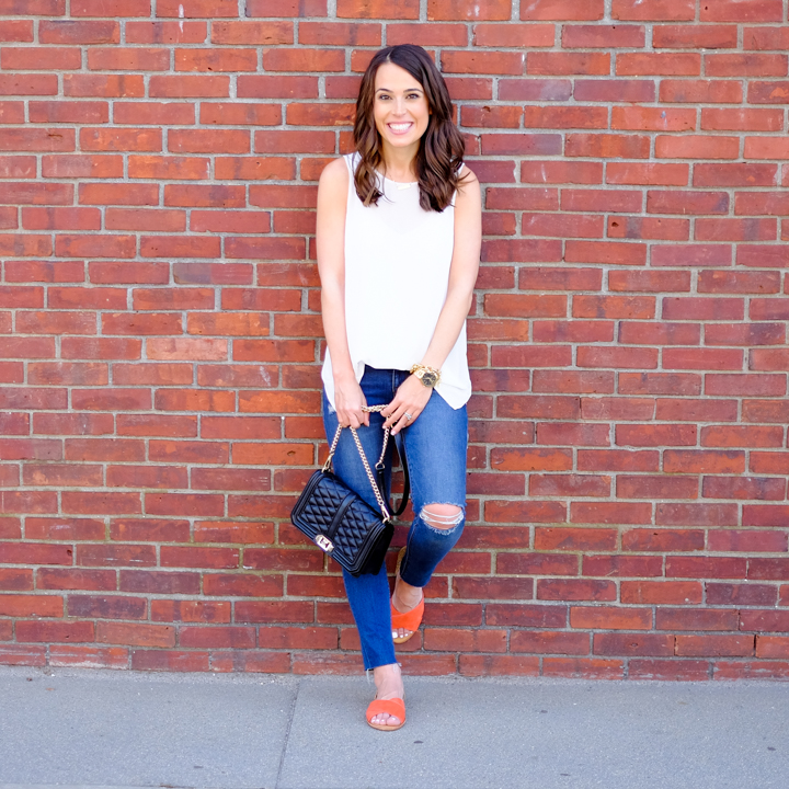 Ripped Jeans Raw Hem easy outfit idea mrscasual fashion blog