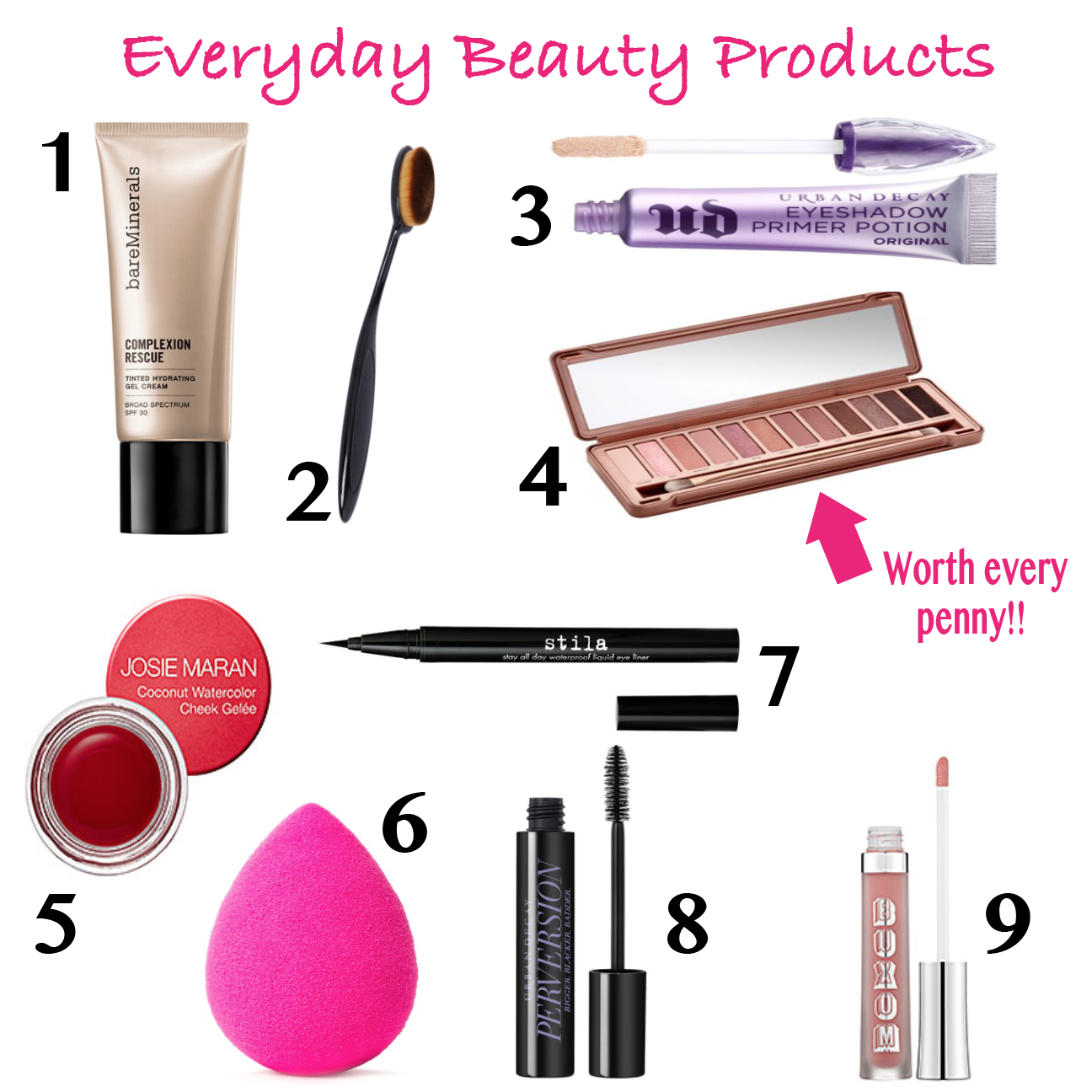 everyday beauty products mrscasual fashion blog