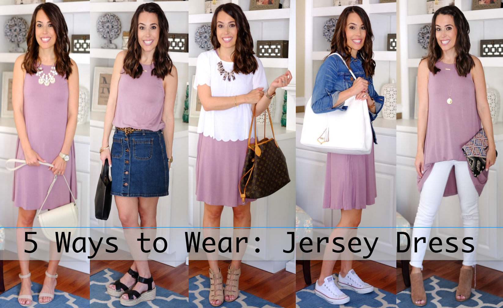 Five ways to wear a jersey dress spring summer outfits by mrscasual