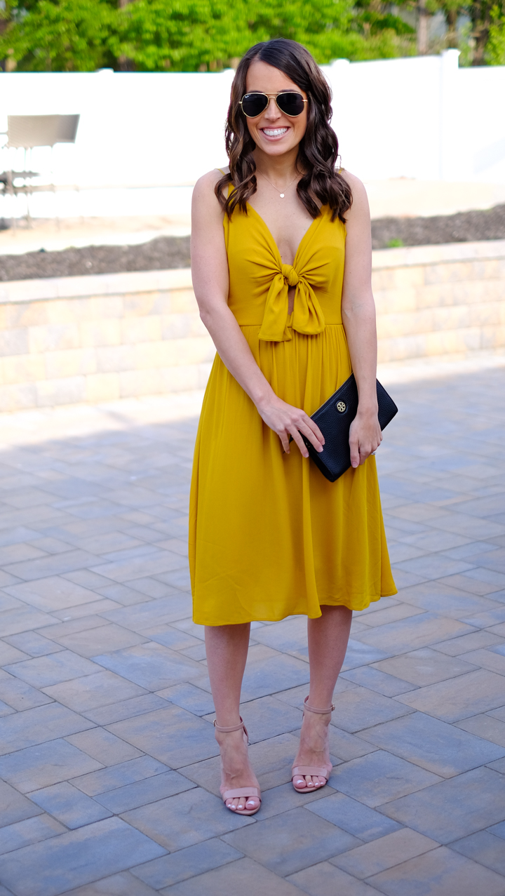 What I Wore Yellow Tie Dress Mrscasual