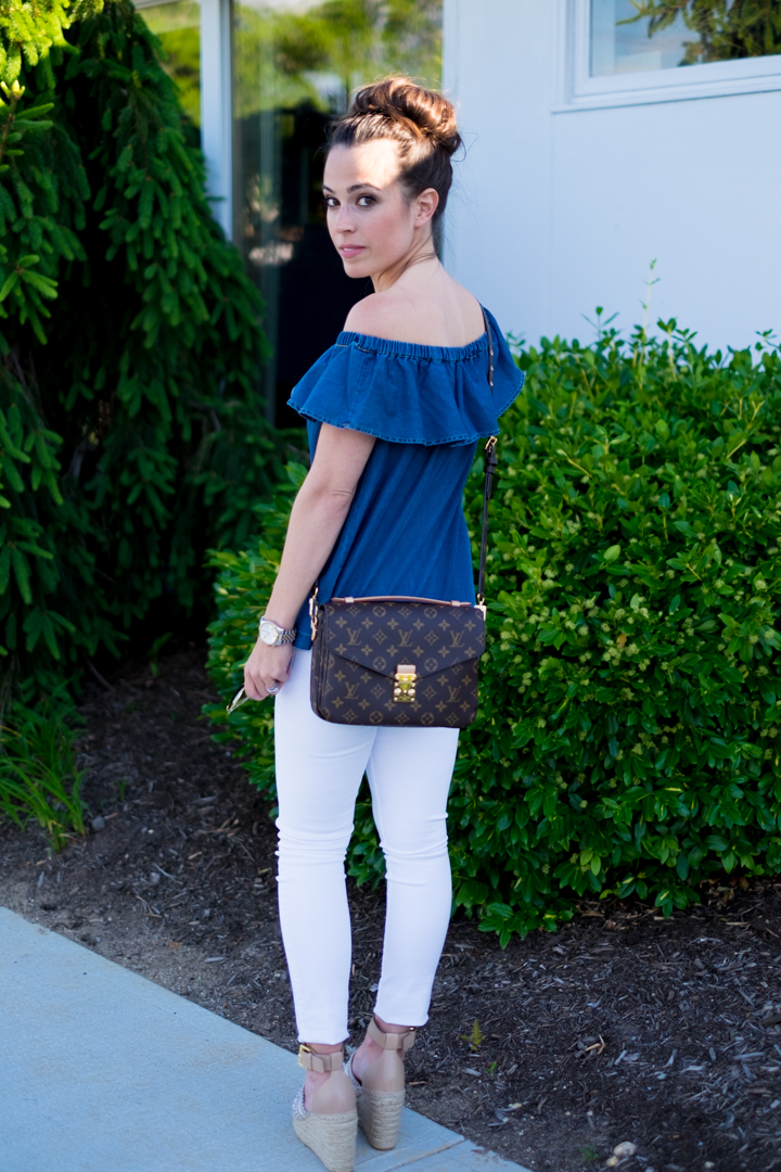 Summer Outfits Very Young Love: Summer Outfit: Chambray On Or Off The Shoulder