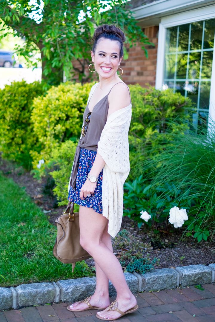 easy summer outfit kimono and shorts mrscasual fashion blog