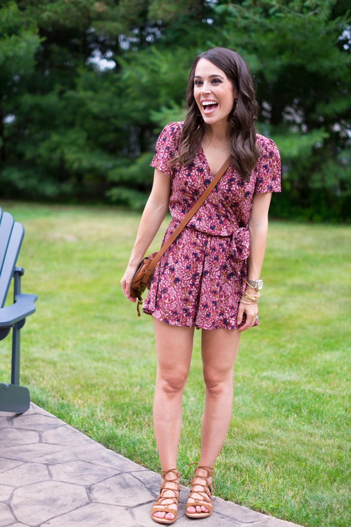 flattering romper under $50 outfit