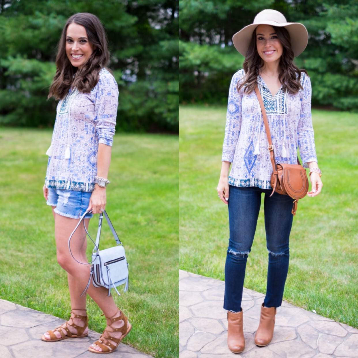 how to take a top from summer to fall with nordstrom outfit mrs casual blog