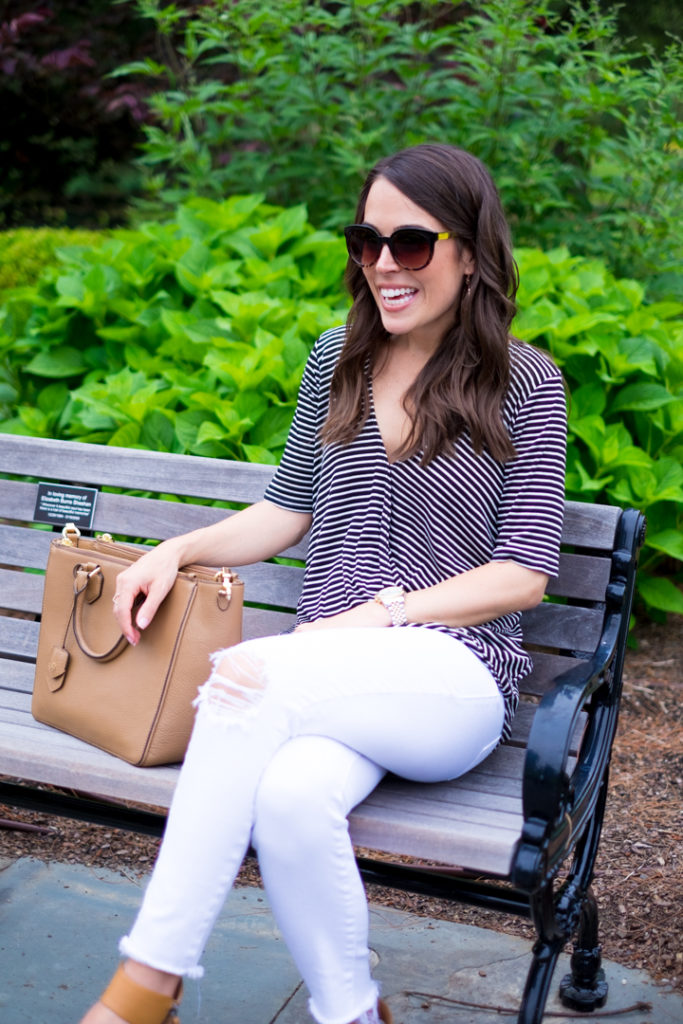 summer striped outfit