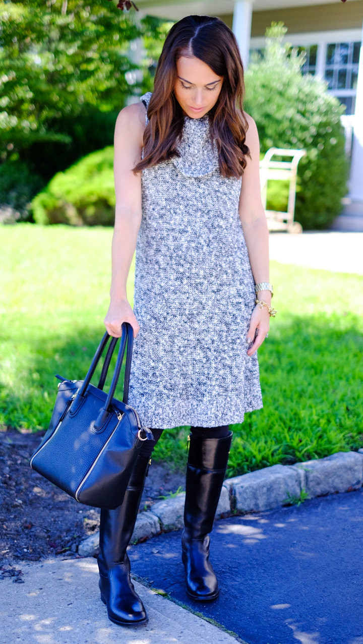 NSale Fall Outfit Idea Sleeveless Sweater Tunic MrsCasual
