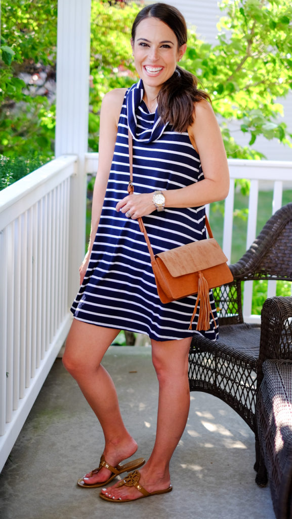 Socialite striped dress