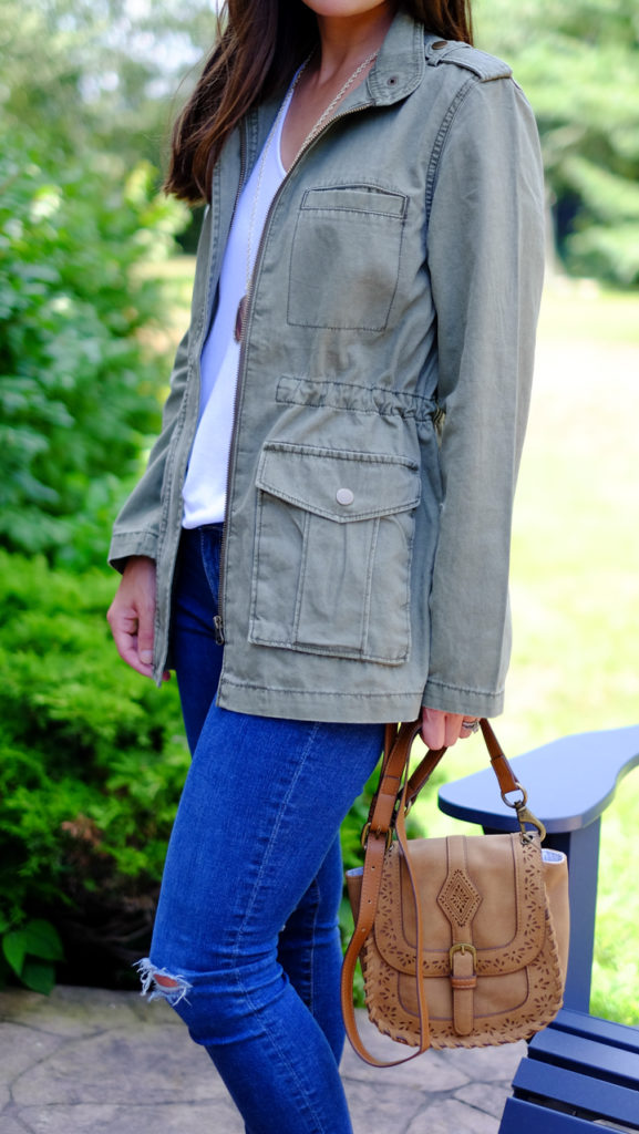 olive anorak outfit