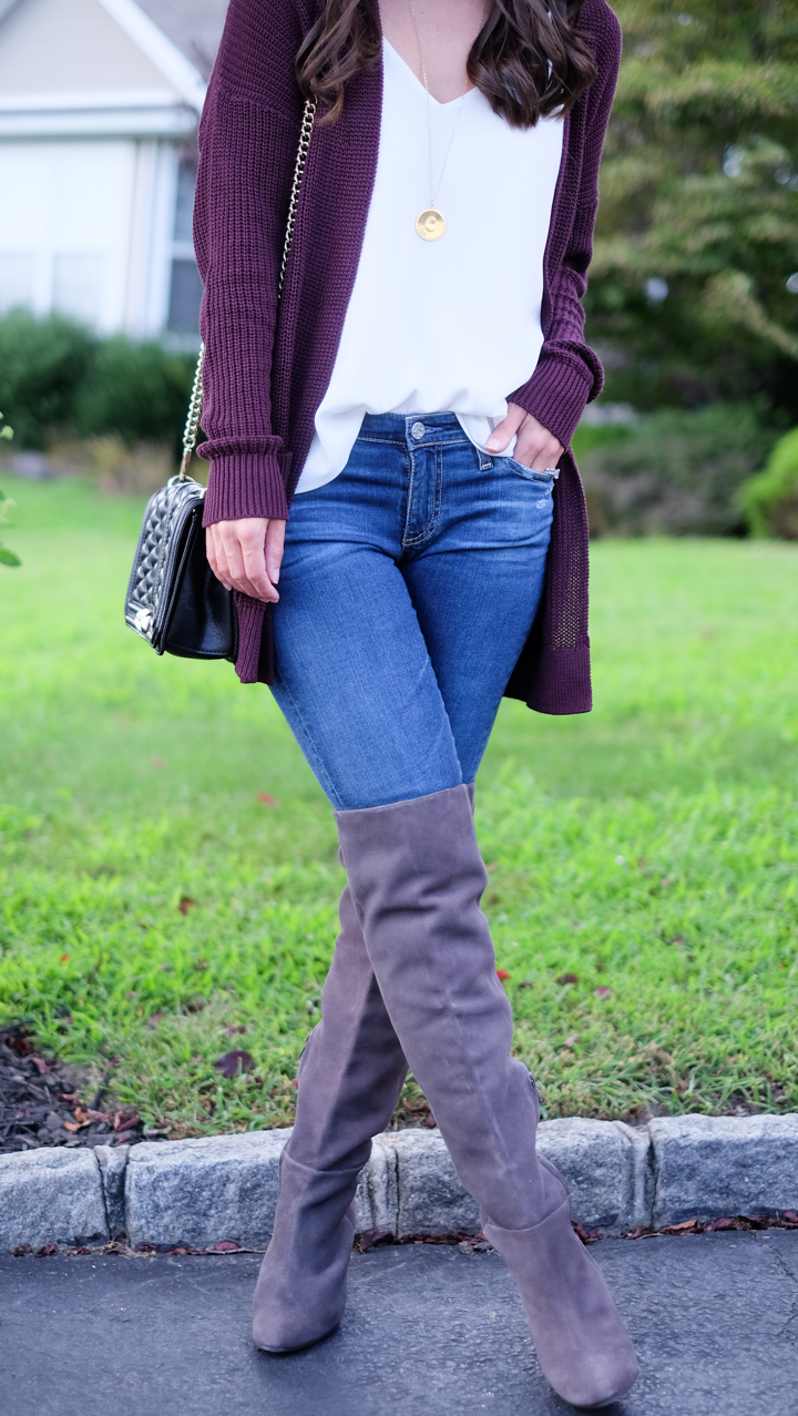 Plaid Cardigan Sweater