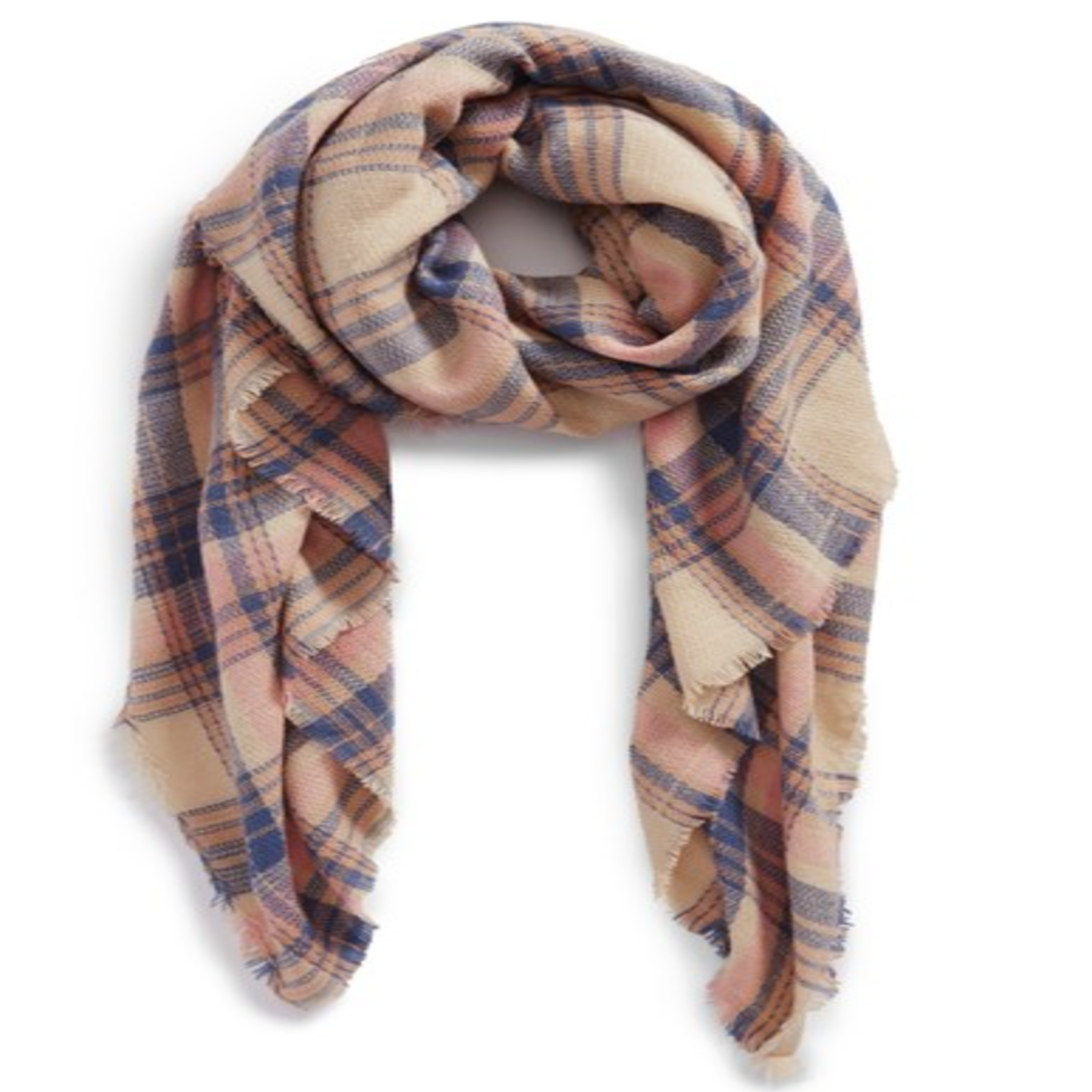 BP. 'Pretty Plaid' Oblong Scarf