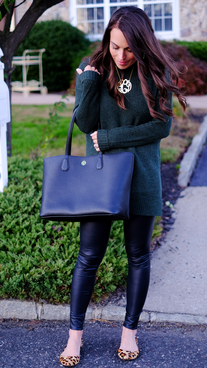 How To Wear Faux Leather Leggings | MrsCasual