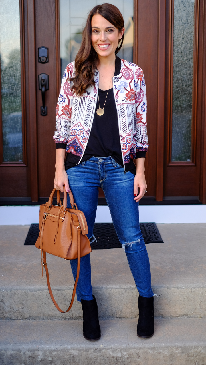 How To Wear A Printed Bomber Jacket | MrsCasual
