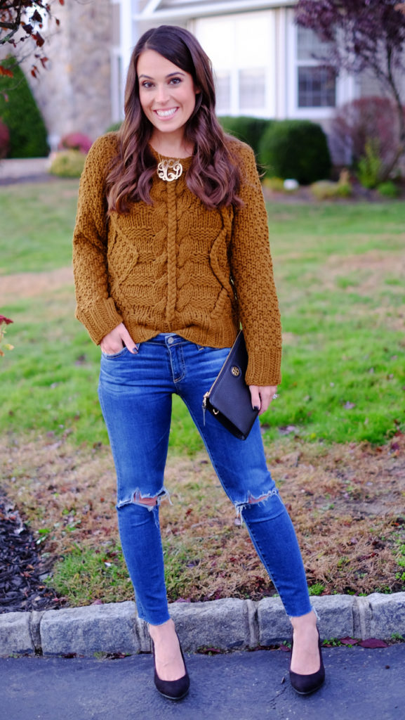 thanksgiving-outfit-cable-knit-sweater