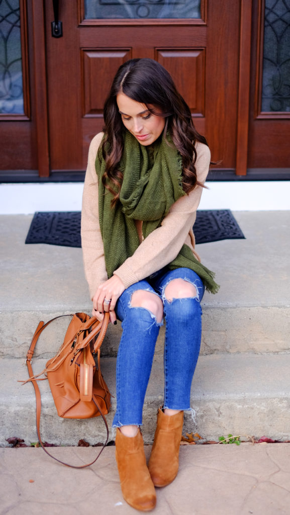 winter-scarf-outfit-with-camel-sweater