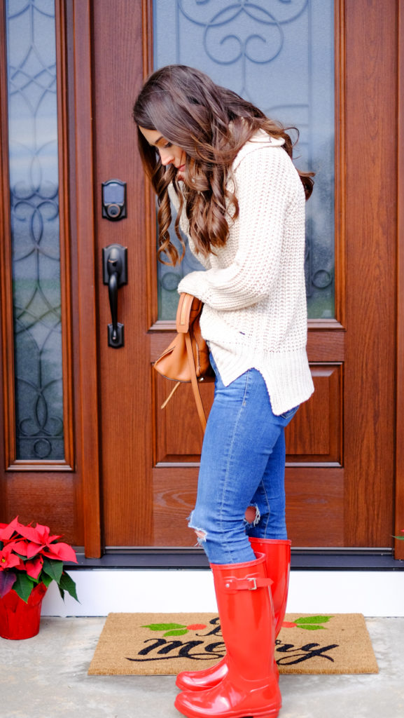 red-hunter-boots-casual-look