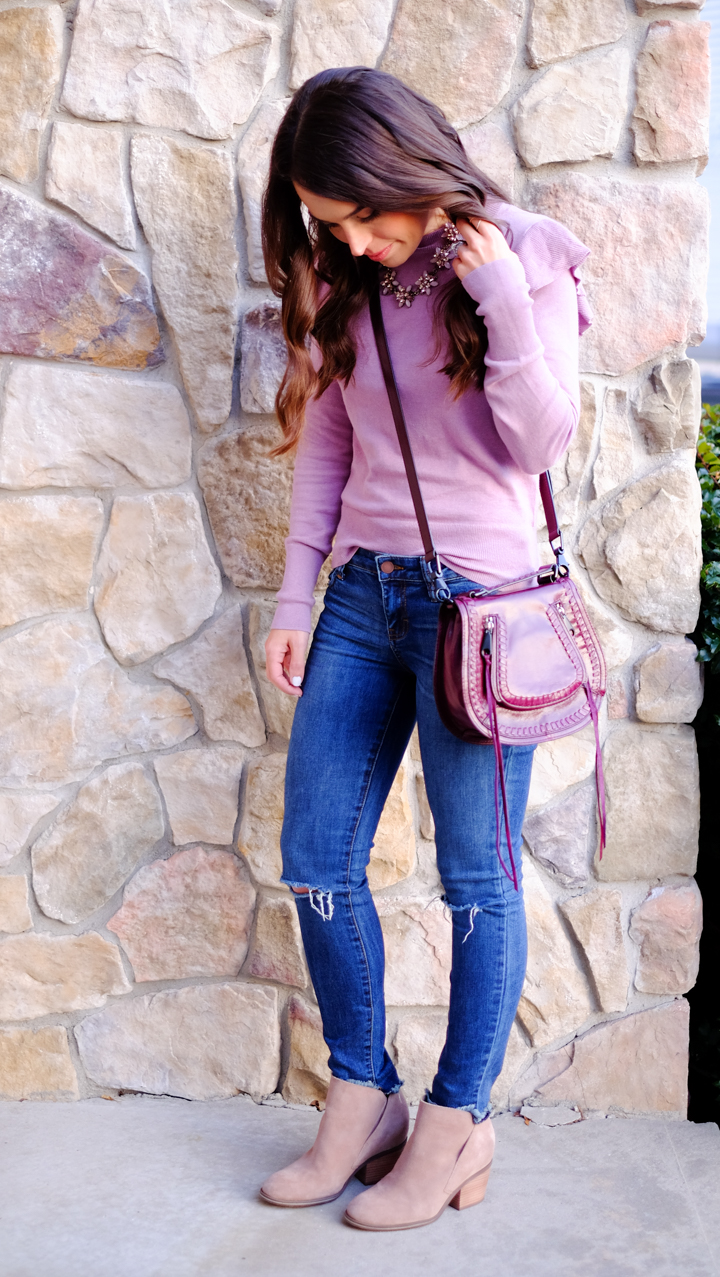 Ruffle Sleeve Sweater | MrsCasual