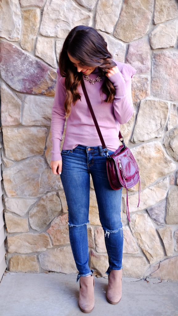 ruffle-sleeve-sweater-outfit