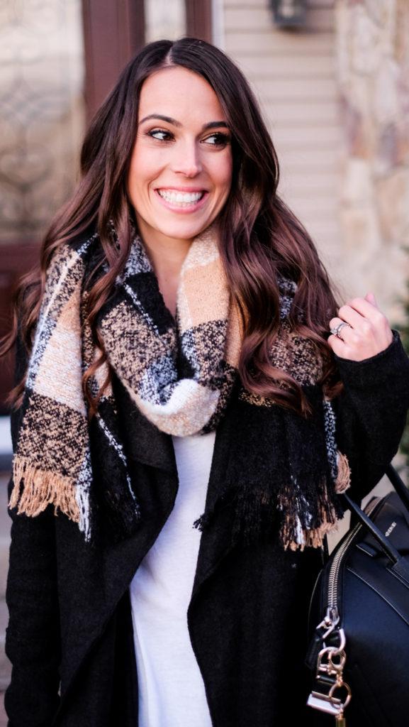 BP black and tan scarf