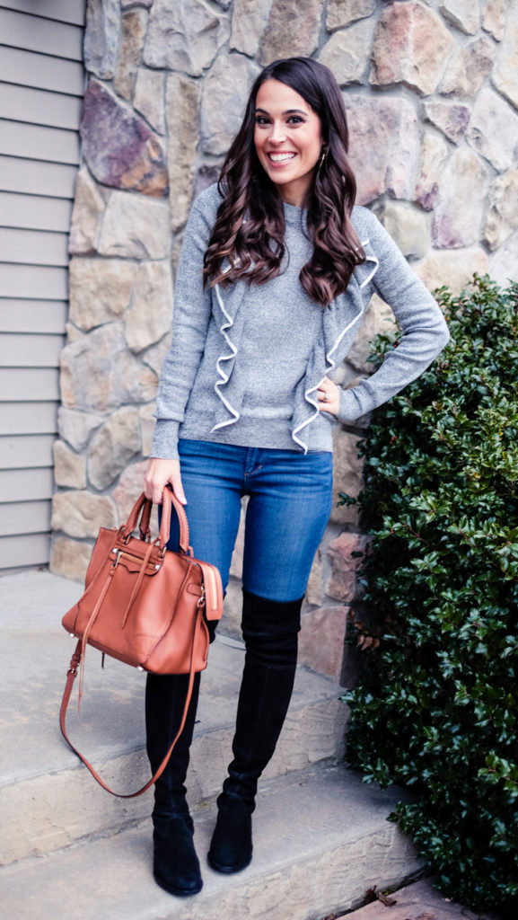 Black gray and brown outfit