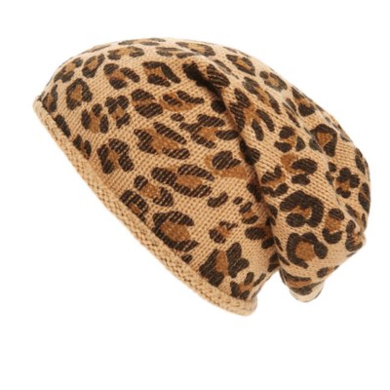 BP leopard print beanie
