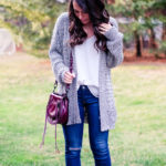cozy black and white cardigan