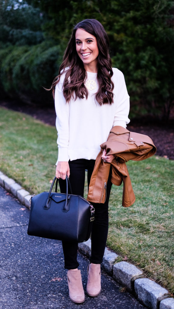 black white and brown casual outfit