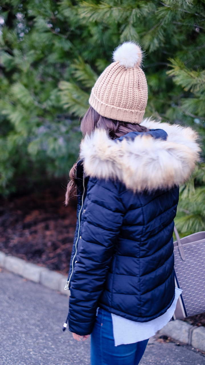 Fur Hooded Jacket