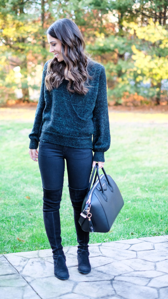 green-sweater-outfit