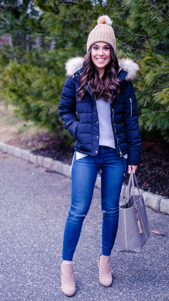 topshop faux fur puffer jacket