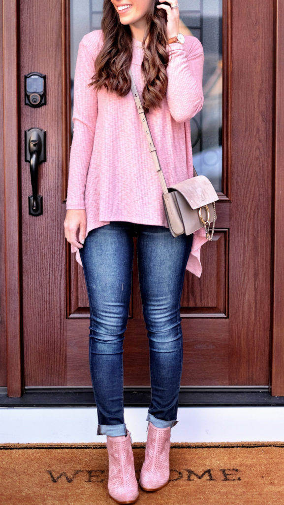 casual pink outfit