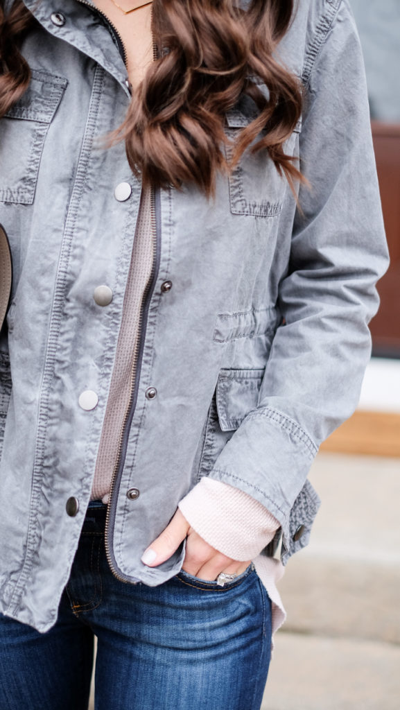 The Gray Utility Jacket | MrsCasual