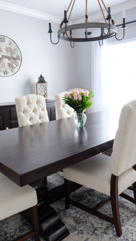 how to style a dining room white upholstered chairs