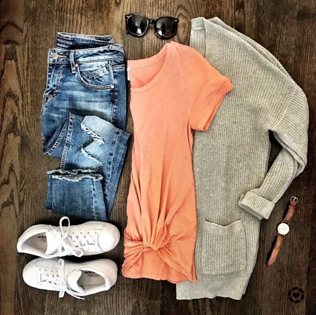 Adidas superstar casual outfit idea