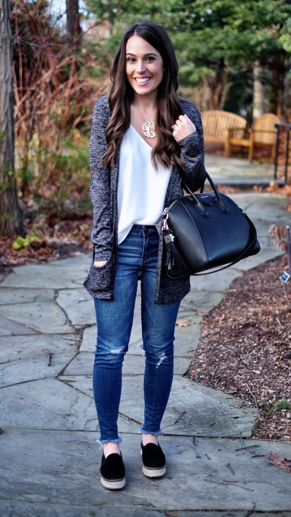 Black and white casual weekend outfit