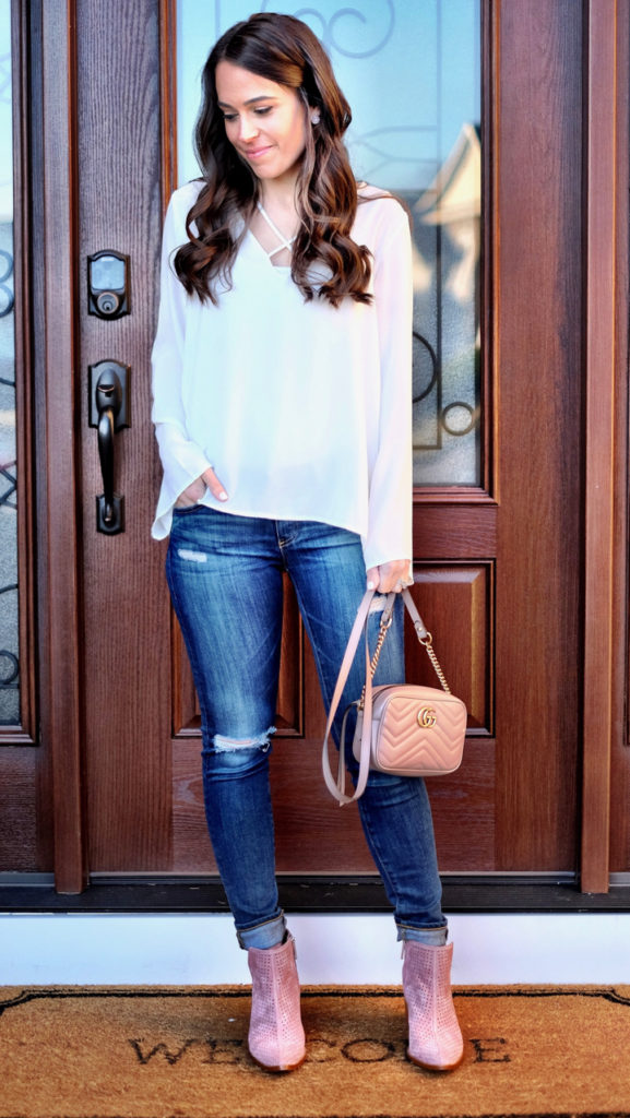 Blush Pink Booties outfit
