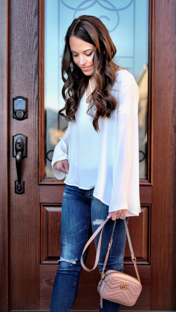 Lush Bell Sleeve Top outfit