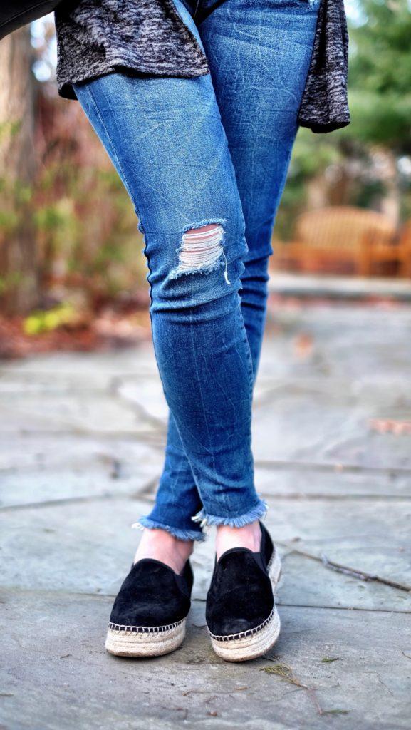 STS blue raw hem jeans