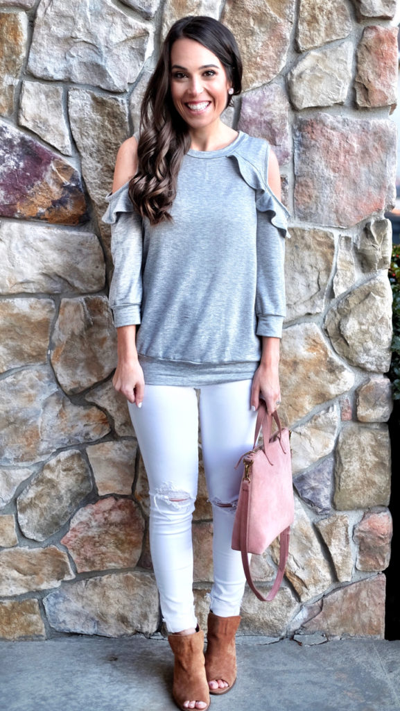 gray and white outfit