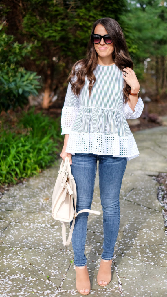 Chicwish eyelet peplum top