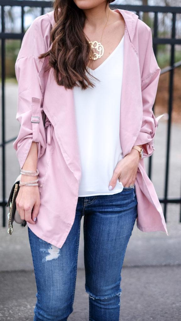 Pink Utility Spring Jacket