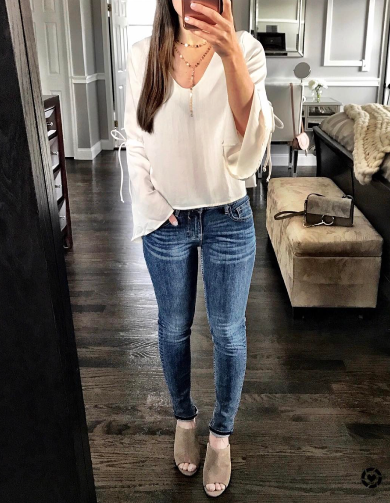 bell sleeve top outfit