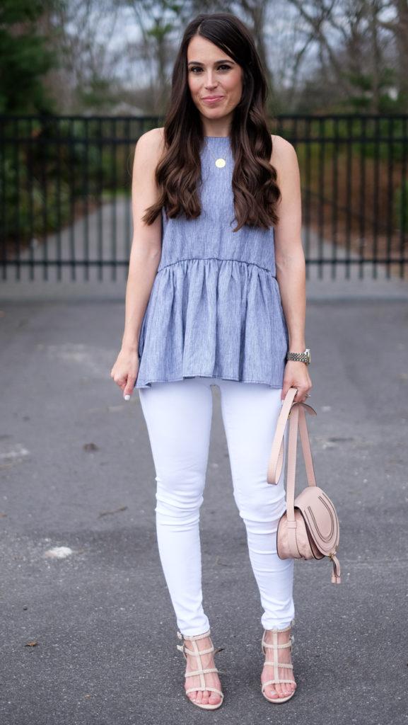 bp peplum top outfit