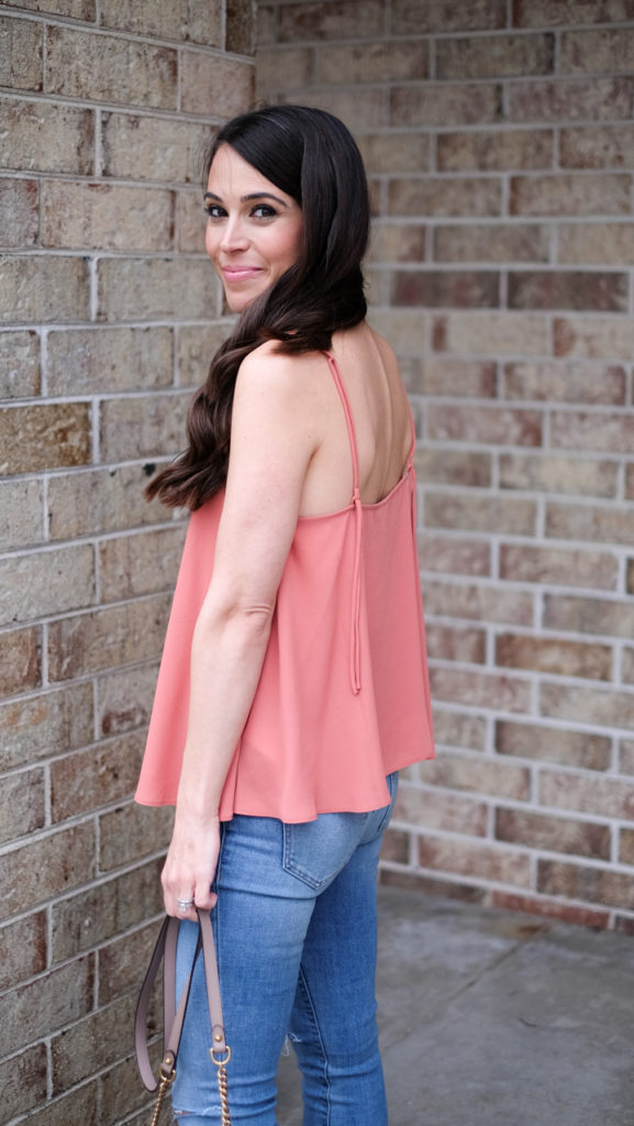 flowy tank spring outfit
