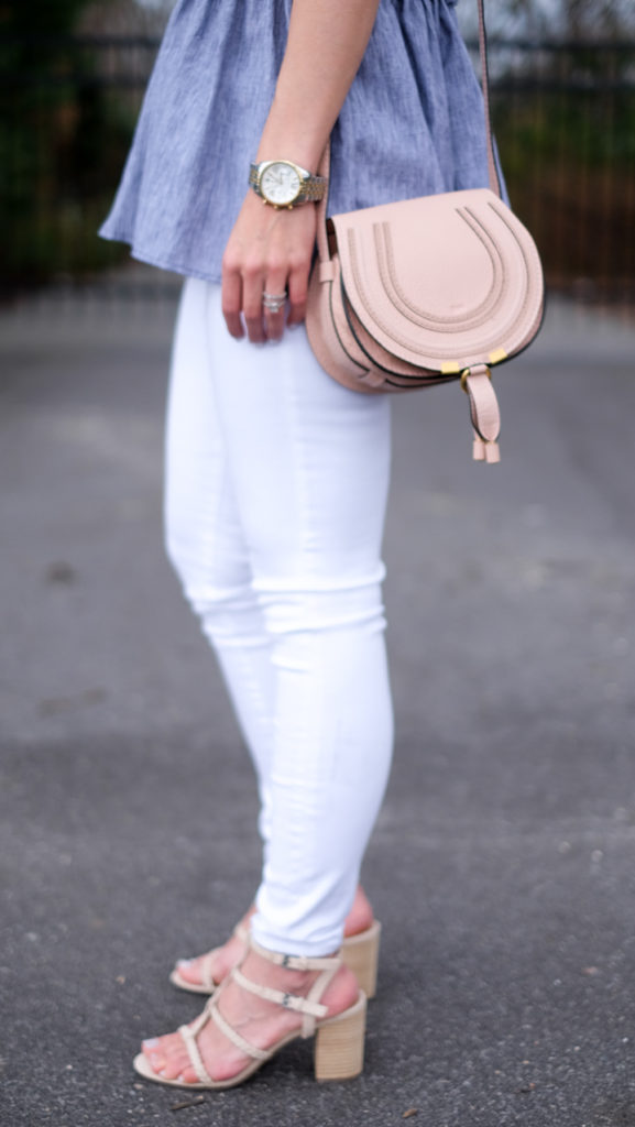 neutral block heel sandal
