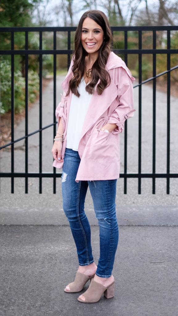 shein pink jacket